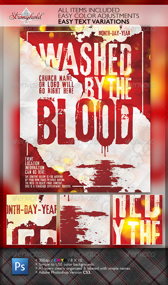 Washed By The Blood Church Flyer Moderngentz Your