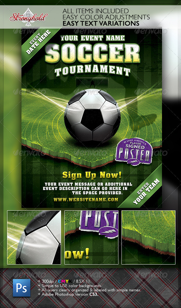 soccer tournament flyer event template your template resource. Black Bedroom Furniture Sets. Home Design Ideas