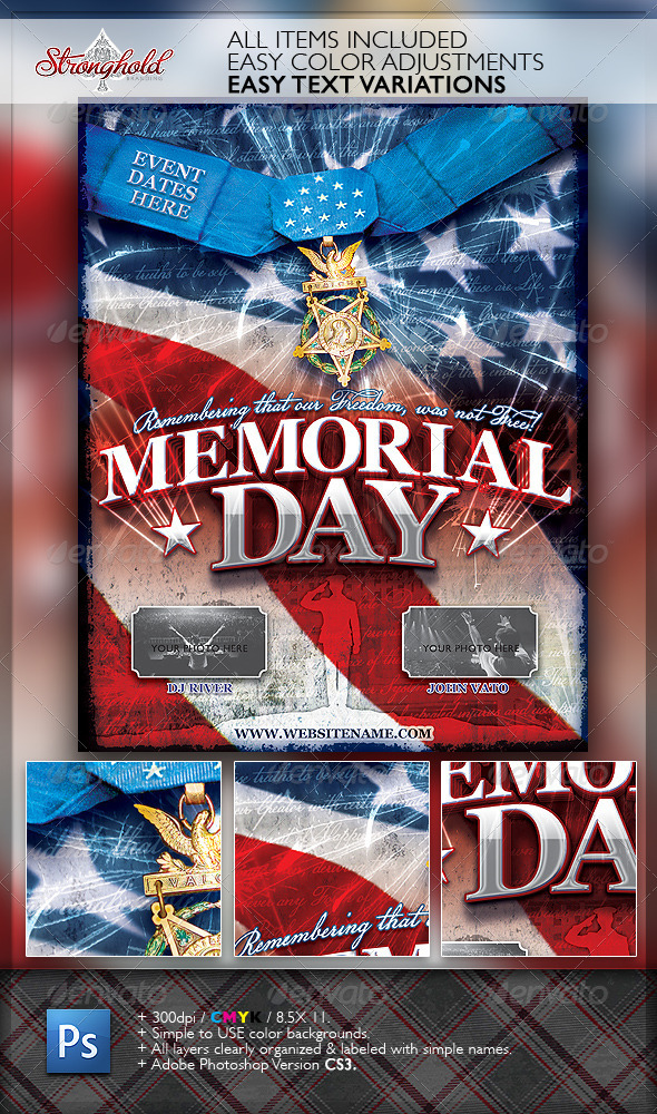 memorial day patriotic flyer template www moderngentz com your