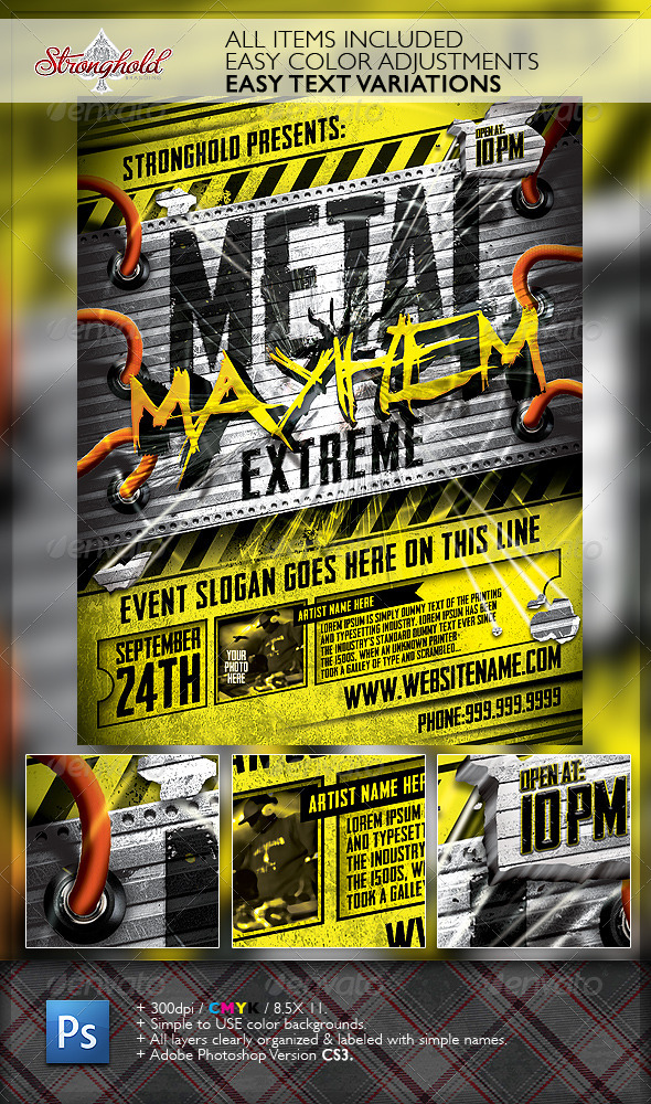 Metal Mayhem Extreme Flyer Template  WwwModerngentzCom  Your