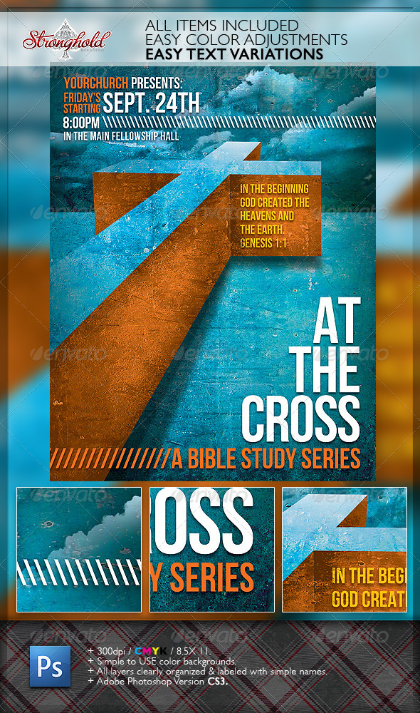 bible study flyer template free