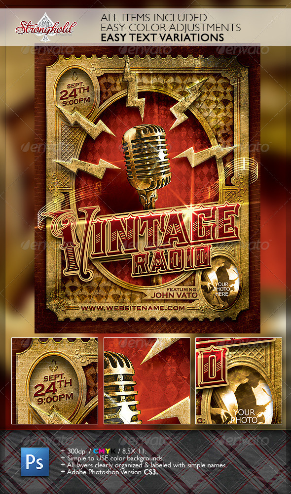 Vintage Jazz Music Event Flyer Template  WwwModerngentzCom  Your