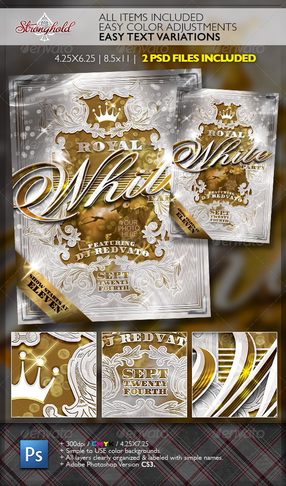 Royal White Party Event Flyer Template Moderngentz Your