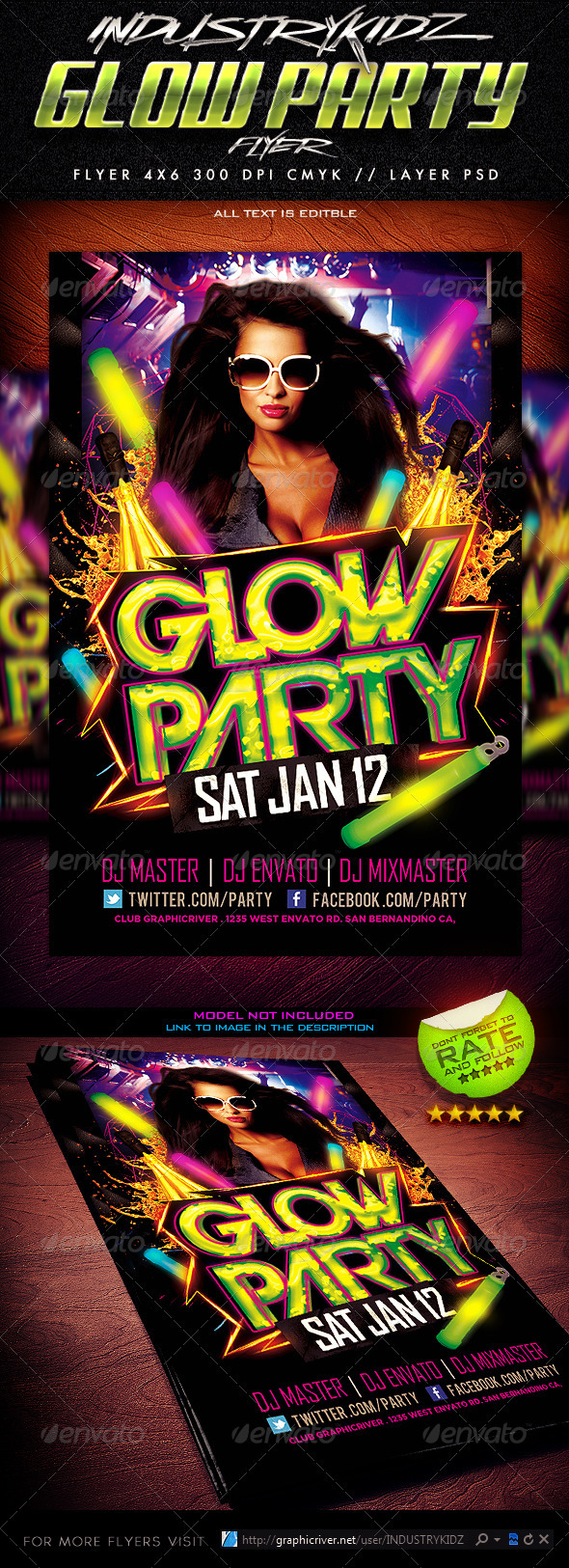 glow party flyer template com your template glow party flyer template