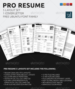 01_pro_resume_5_layouts_set
