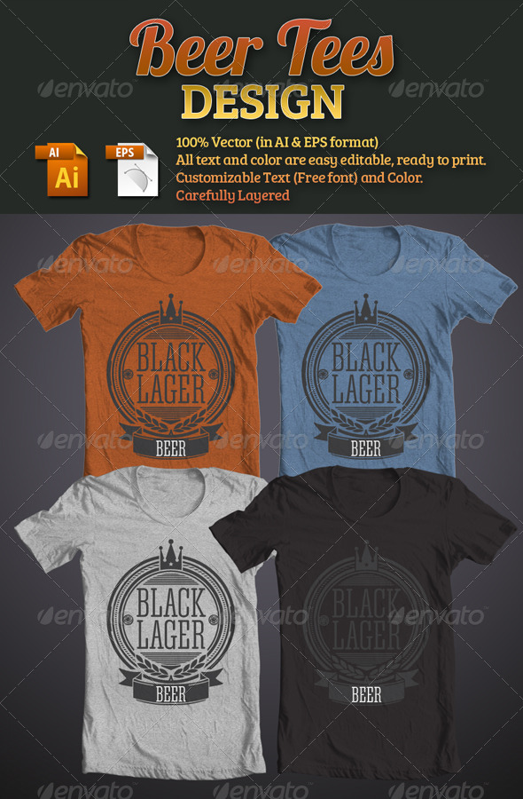 Beer Tees Design_Image Preview
