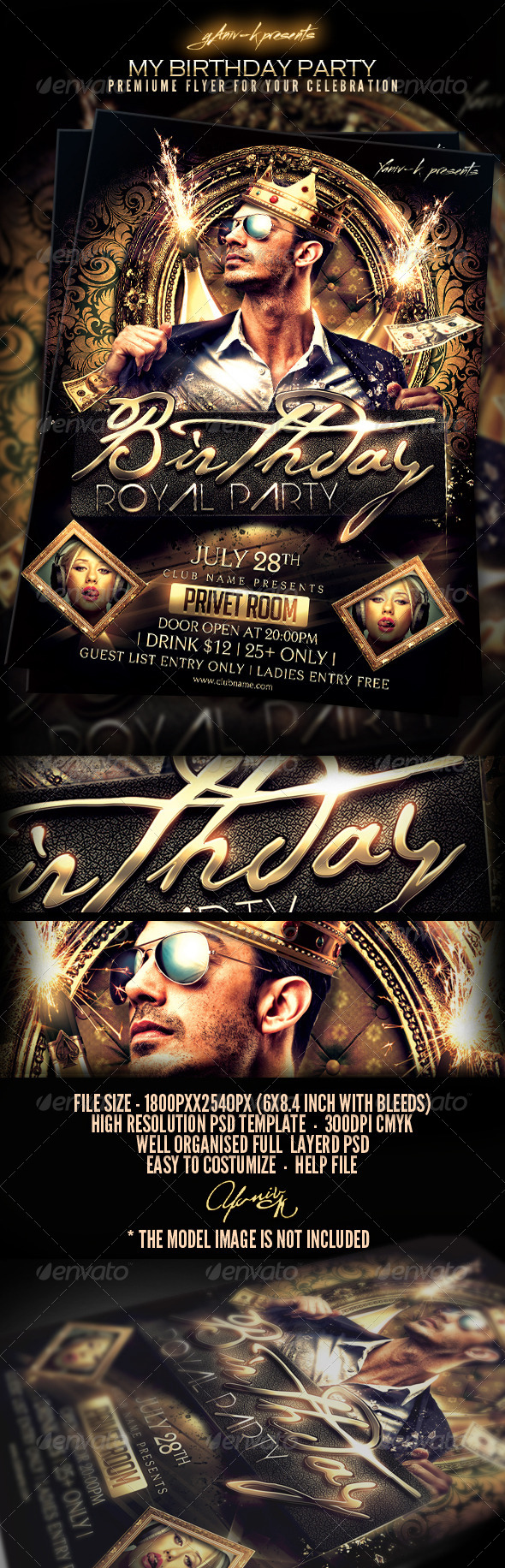 My birthday bachelor party invitation template moderngentz my birthday party flyer templateattention this hot flyer will overload your bash this template designed to promote celebrations parties and more filmwisefo Image collections