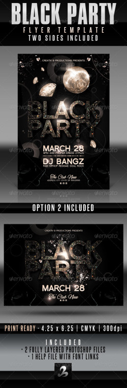 Black Party Flyer Image Preview