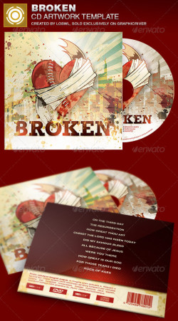 Broken-CD-Artwork-Template-Image-Preview