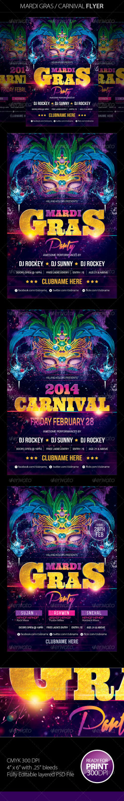 Mardi Gras Carnival Flyer_preview