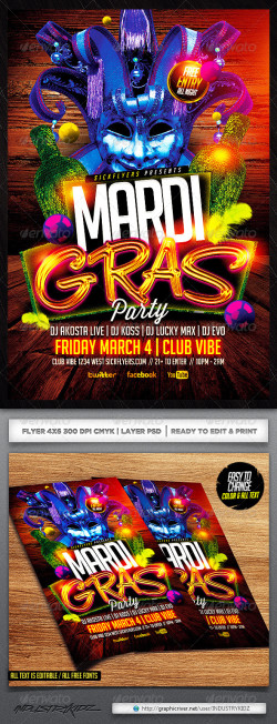 MardiGras_Flyer_Template