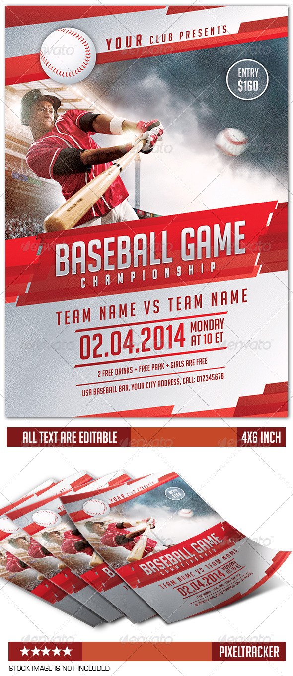 Baseball Flyer Template | www.Moderngentz.com | Your Template ...