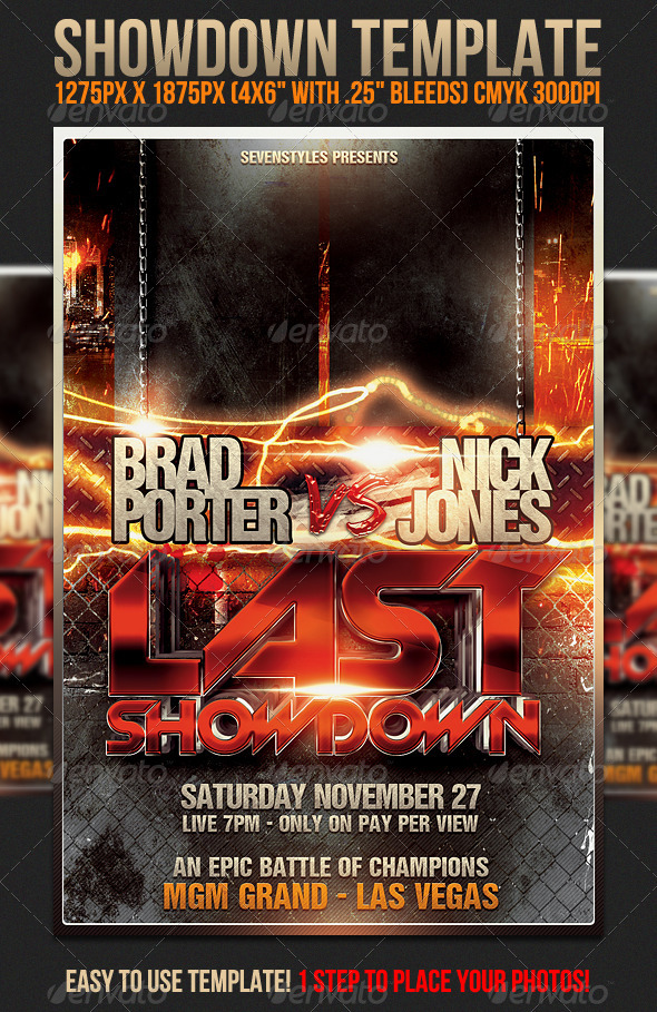 Showdown Flyer Template  WwwModerngentzCom  Your Template