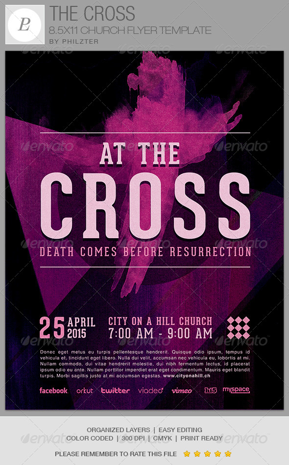 The Cross Church Flyer Template  WwwModerngentzCom  Your