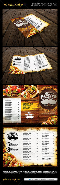 Tri_Fold_Mexican_Menu_template