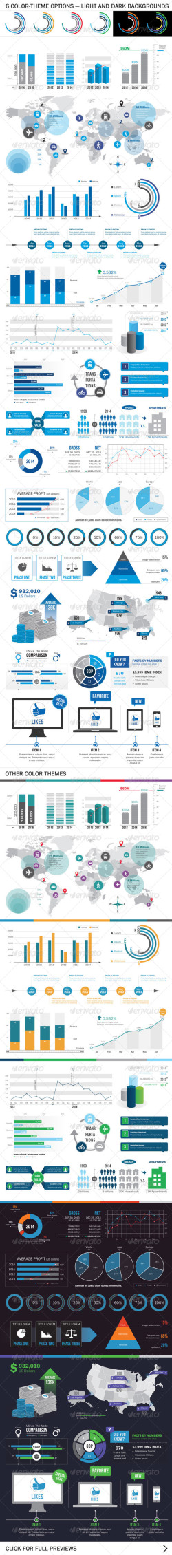 Various infographic elements_preview