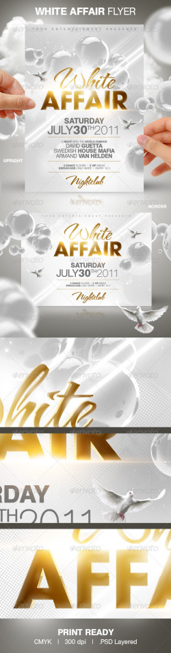 White Affair Party Flyer Template preview big2