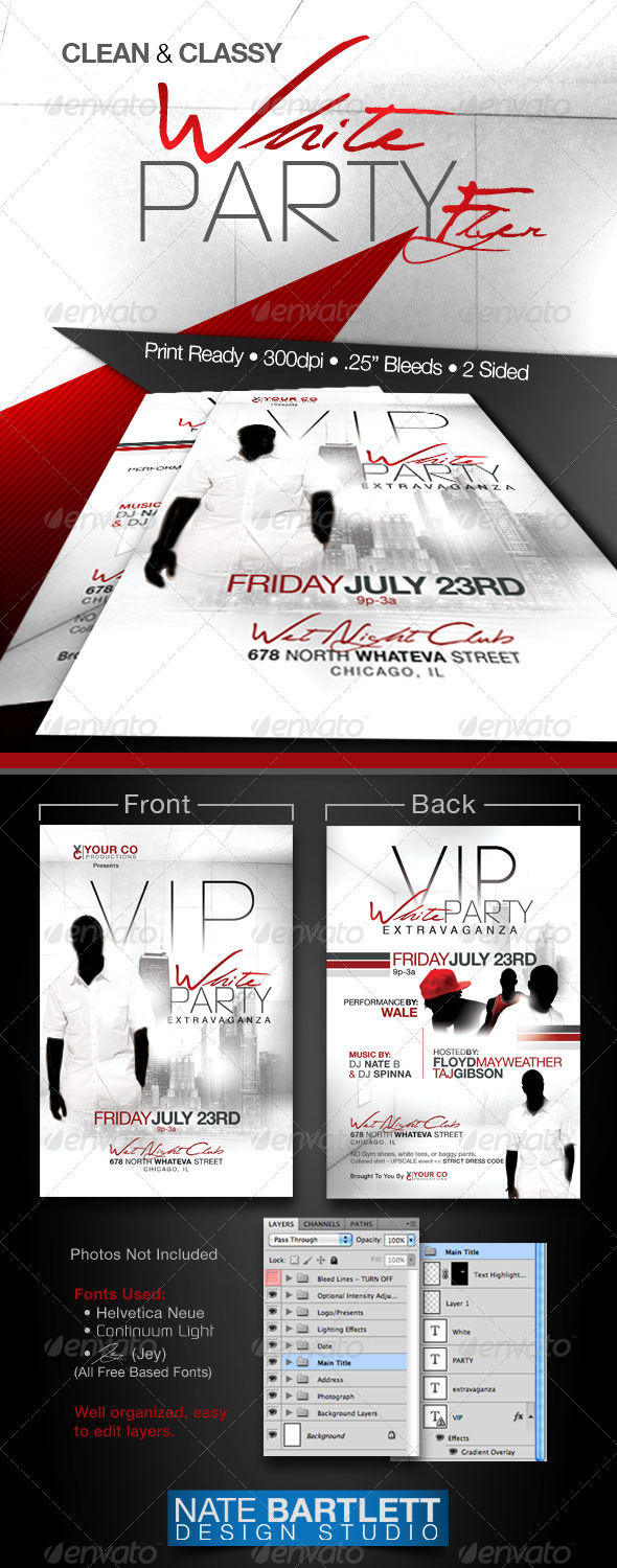 white party event flyer template moderngentz com your white party flyer template