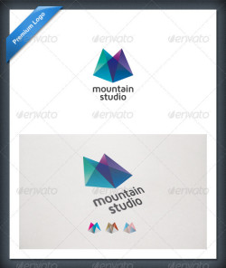 abstract-mountain-colorful-letter-m-logo-template