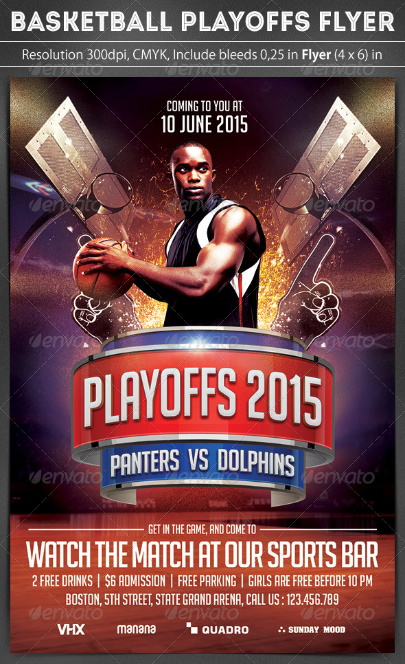 Basketball Playoffs Flyer  WwwModerngentzCom  Your Template