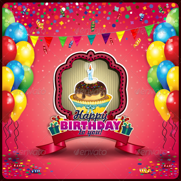 Happy Birthday With Cupcake Moderngentz Your Template