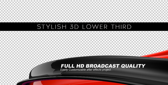 Stylish 3D Lower Third – After Effects Project   www.Moderngentz ...