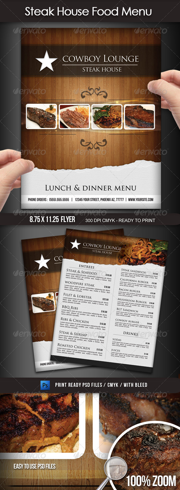 Fine Photoshop Menu Template Pictures Inspiration - Example Resume ...
