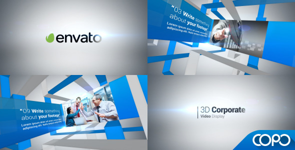 3d corporate video display – after effects project | www, Powerpoint templates