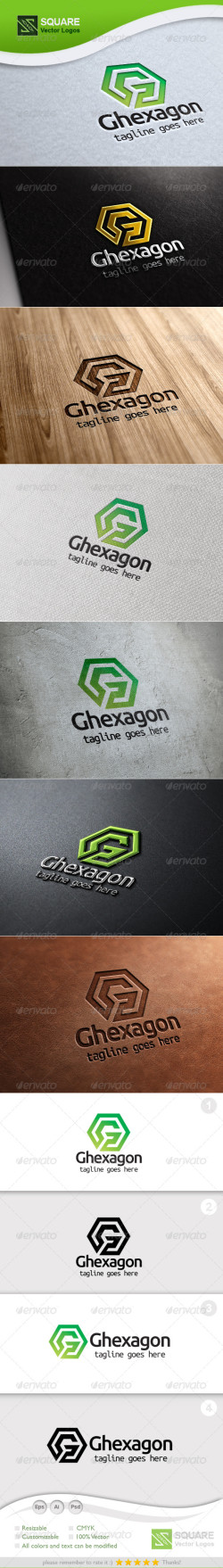 G Letter Hexagon Vector Logo Template-Preview
