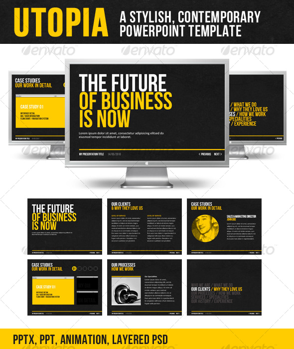 Utopia PowerPoint Template Moderngentz – Powerpoint Flyer Template