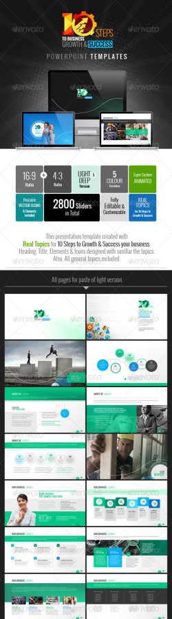 Graphicriver-Business-Plan-10-Steps-to-Business-Growth-&-Success-Powerpoint-Presentation-Clean-Branding-Image Preview
