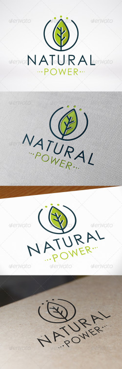 Natural Power Logo Template Preview