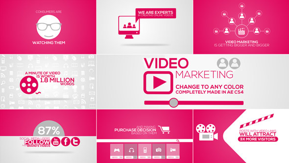 Online Video Marketing Intro – After Effects Project | www ...