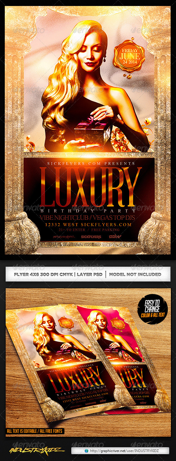 luxury party flyer template v com your luxury flyer template v2