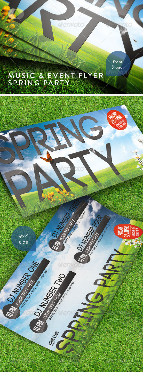 Music Event Flyer Spring Party Moderngentz Your