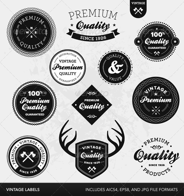 vintage labels your template resource photoshop flyers to wordpress. Black Bedroom Furniture Sets. Home Design Ideas