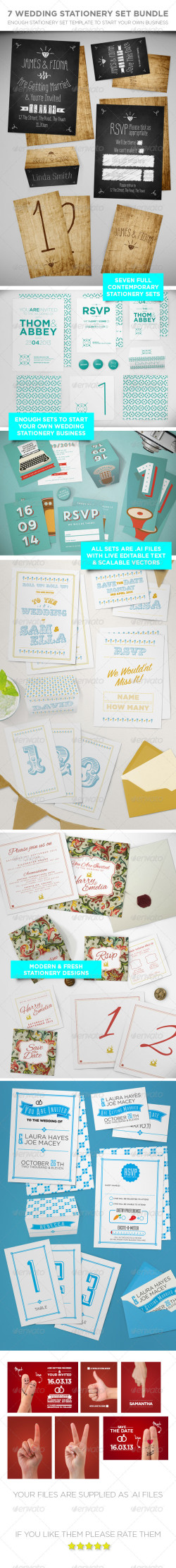 7 Wedding Stationery Vol