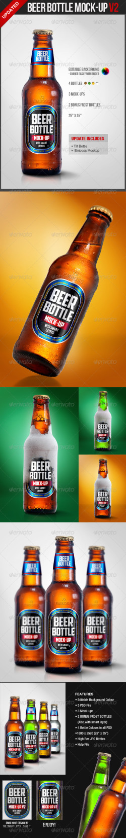 beer bottle mockup update