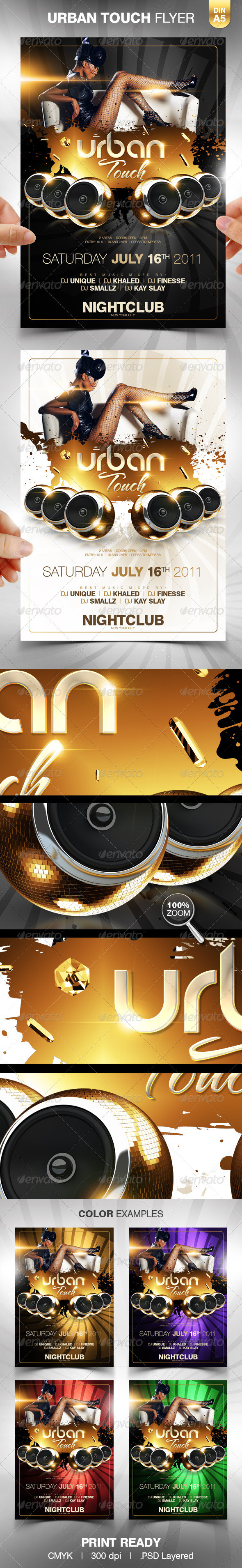 Urban Touch Party Flyer Template preview big