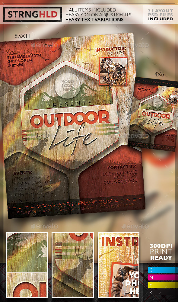 Vintage Outdoor Hunting Poster Template Www Moderngentz Com Your